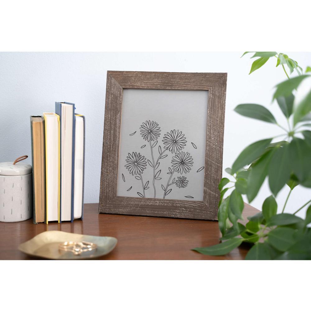 "9"" x 12""  Rustic Farmhouse Espresso Brown Wood Frame - 386574. Picture 3"