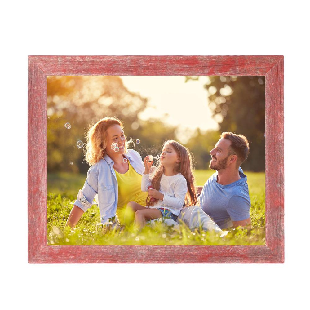 """9"""" x 12""""  Rustic Farmhouse Red Wood Frame - 386576. Picture 2"""