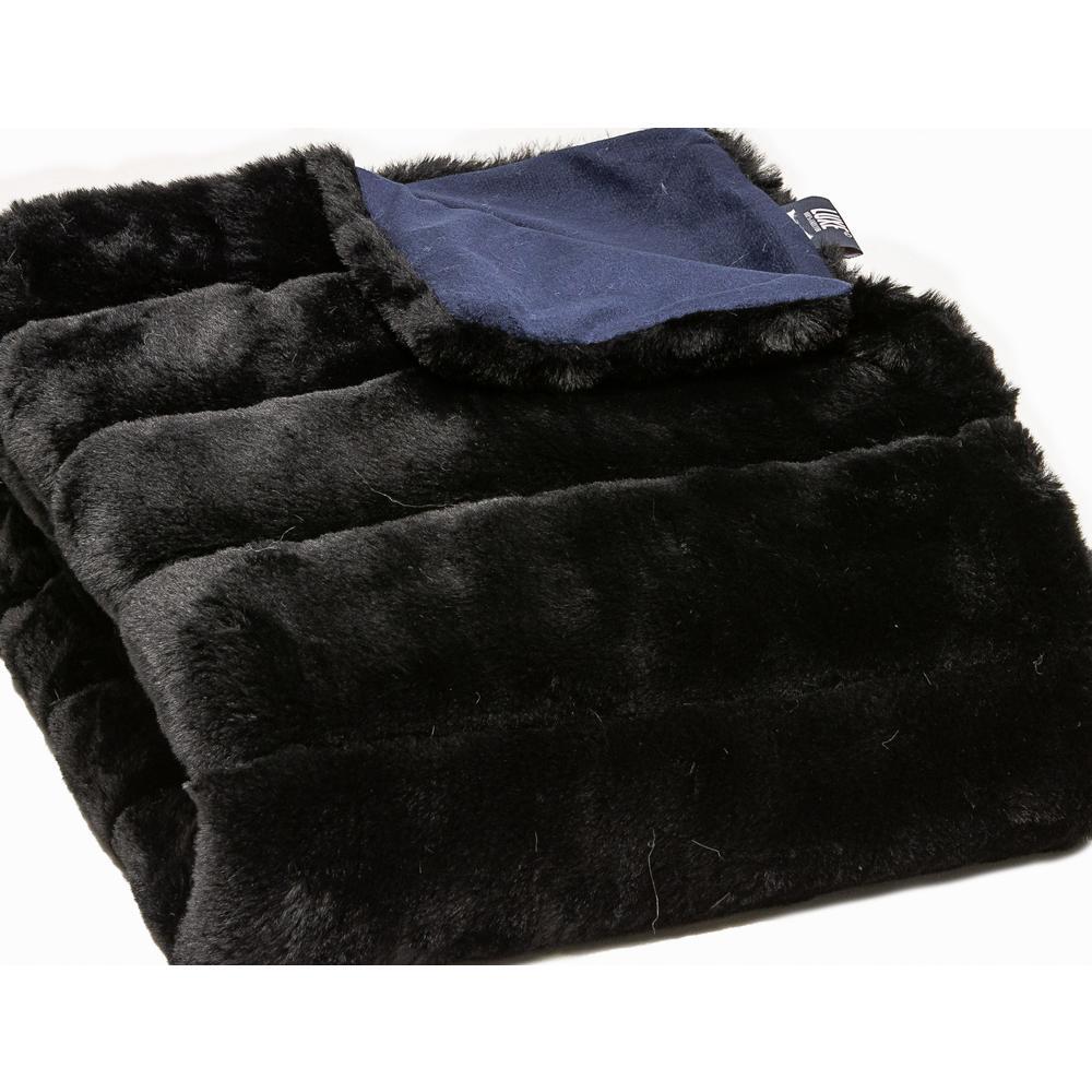 Premier Luxury Onyx Stripe Faux Fur Throw Blanket - 386749. Picture 1