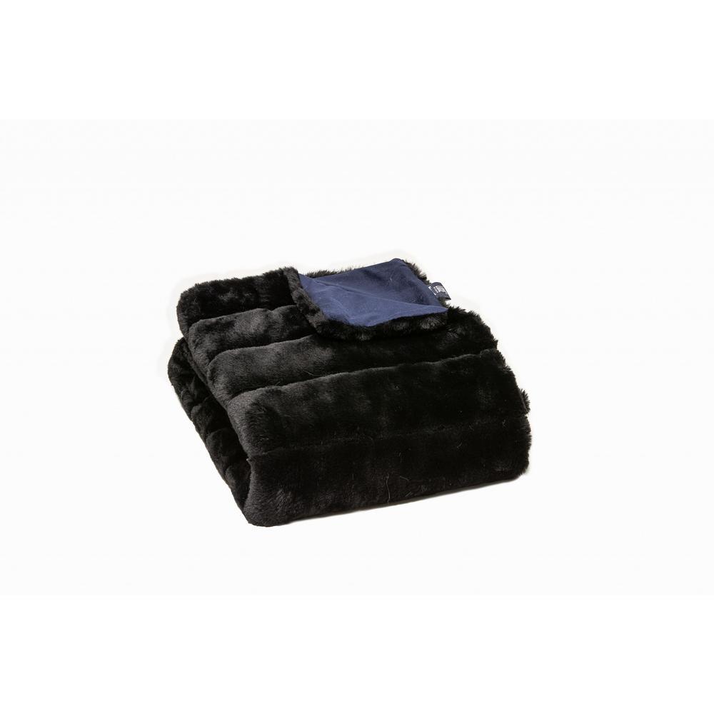 Premier Luxury Onyx Stripe Faux Fur Throw Blanket - 386749. Picture 3