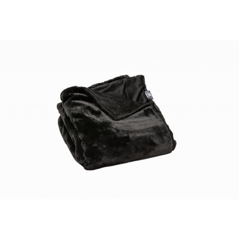 Premier Luxury Black Super Soft Faux Fur Throw Blanket - 386750. Picture 1