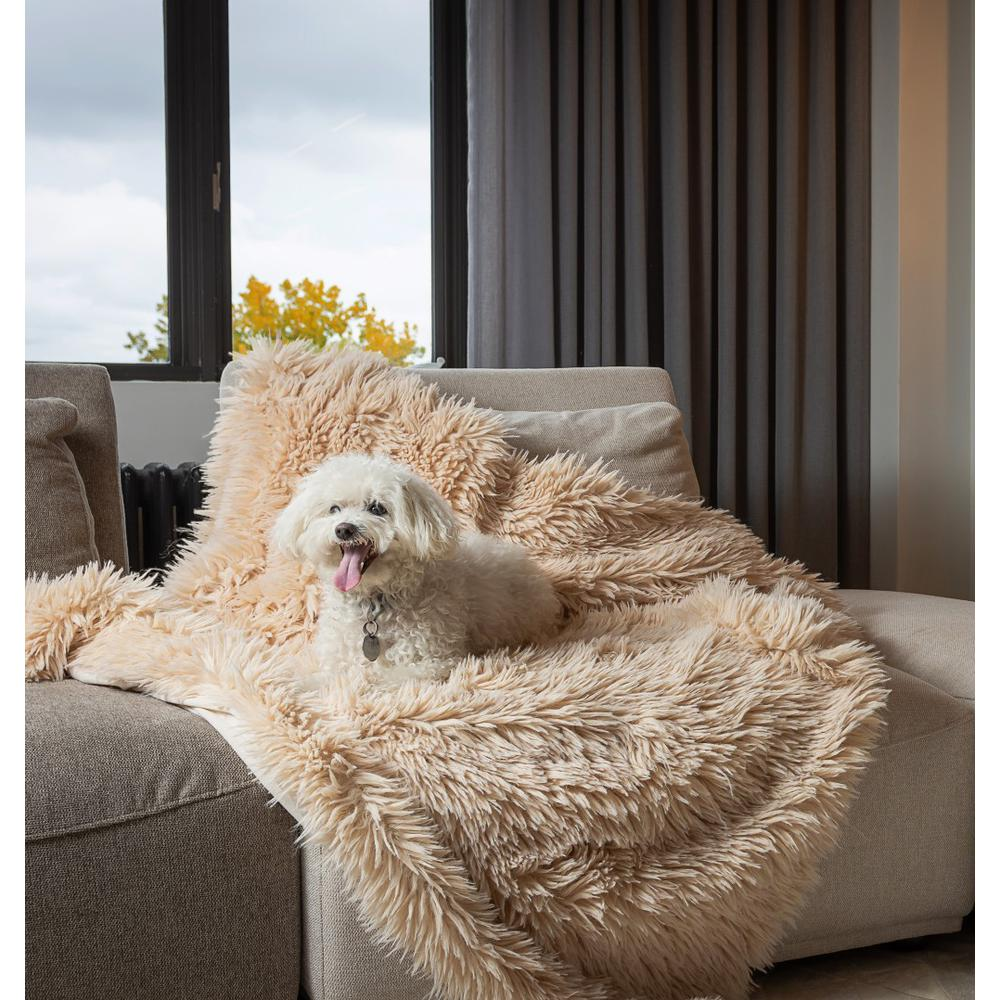 Chunky Flokati Faux Wool Off White Throw Blanket - 386752. Picture 4