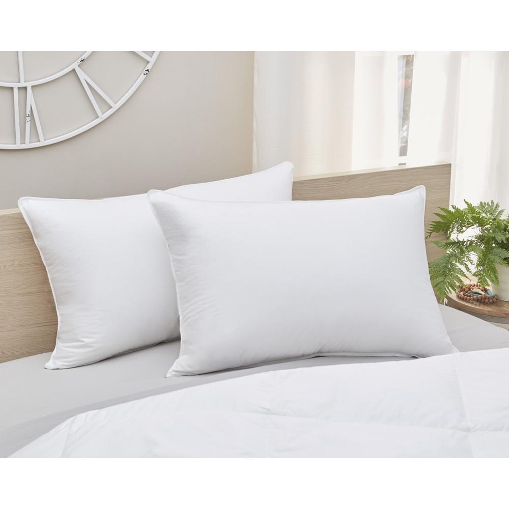 Premium Lux  Down Queen Size Medium Pillow - 387825. Picture 1