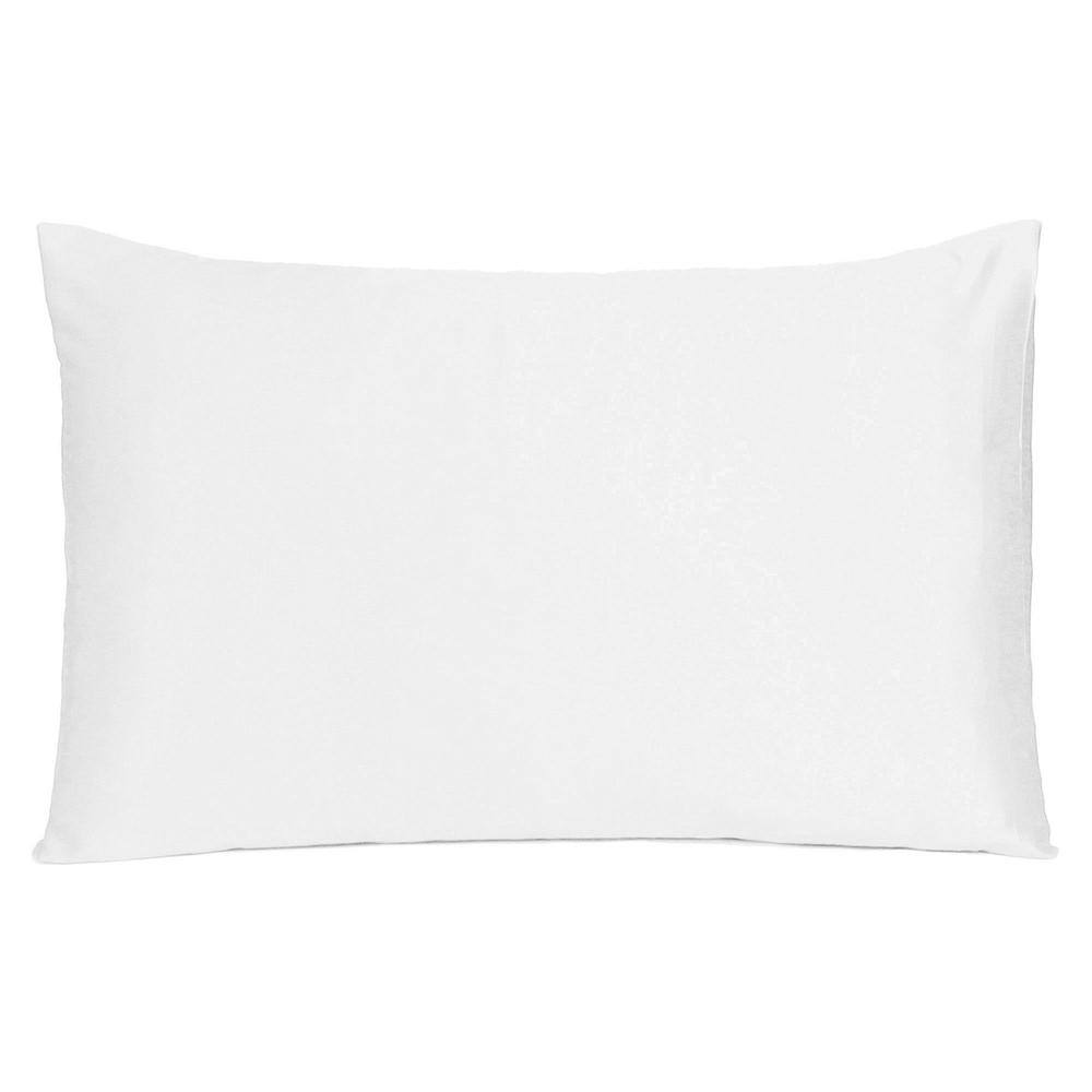 White Dreamy Set of 2 Silky Satin Standard Pillowcases - 387858. Picture 3