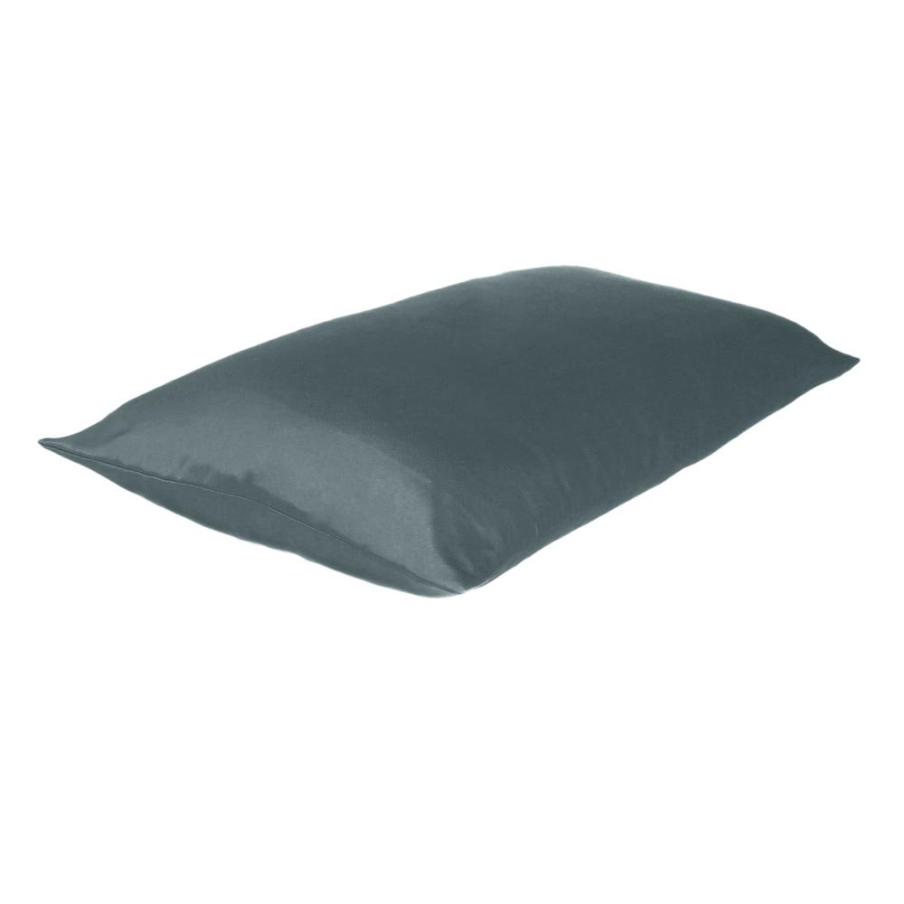 Gray Dreamy Set of 2 Silky Satin Standard Pillowcases - 387861. Picture 4