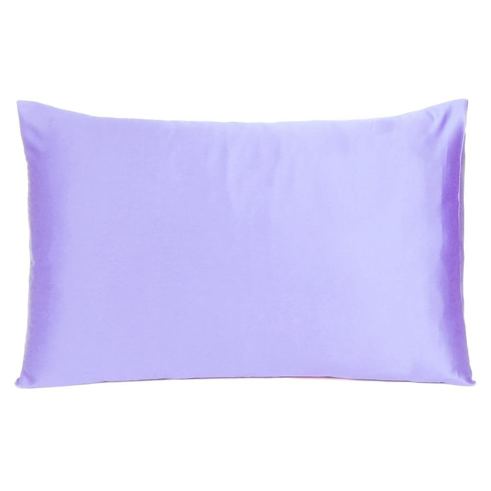 Purple Dreamy Set of 2 Silky Satin Standard Pillowcases - 387862. Picture 3