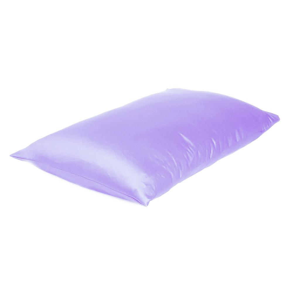 Purple Dreamy Set of 2 Silky Satin Standard Pillowcases - 387862. Picture 4