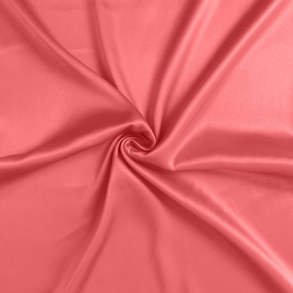Coral Dreamy Set of 2 Silky Satin Standard Pillowcases - 387863. Picture 6