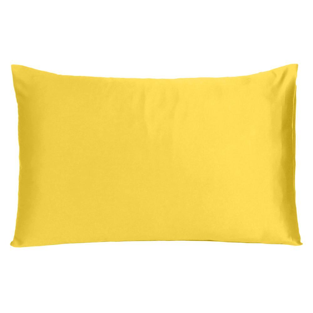 Lemon Dreamy Set of 2 Silky Satin Standard Pillowcases - 387867. Picture 3