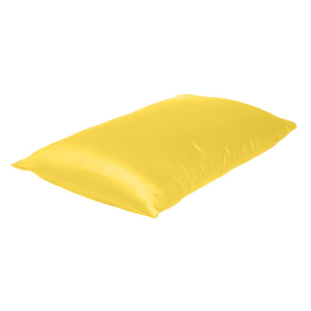 Lemon Dreamy Set of 2 Silky Satin Standard Pillowcases - 387867. Picture 4