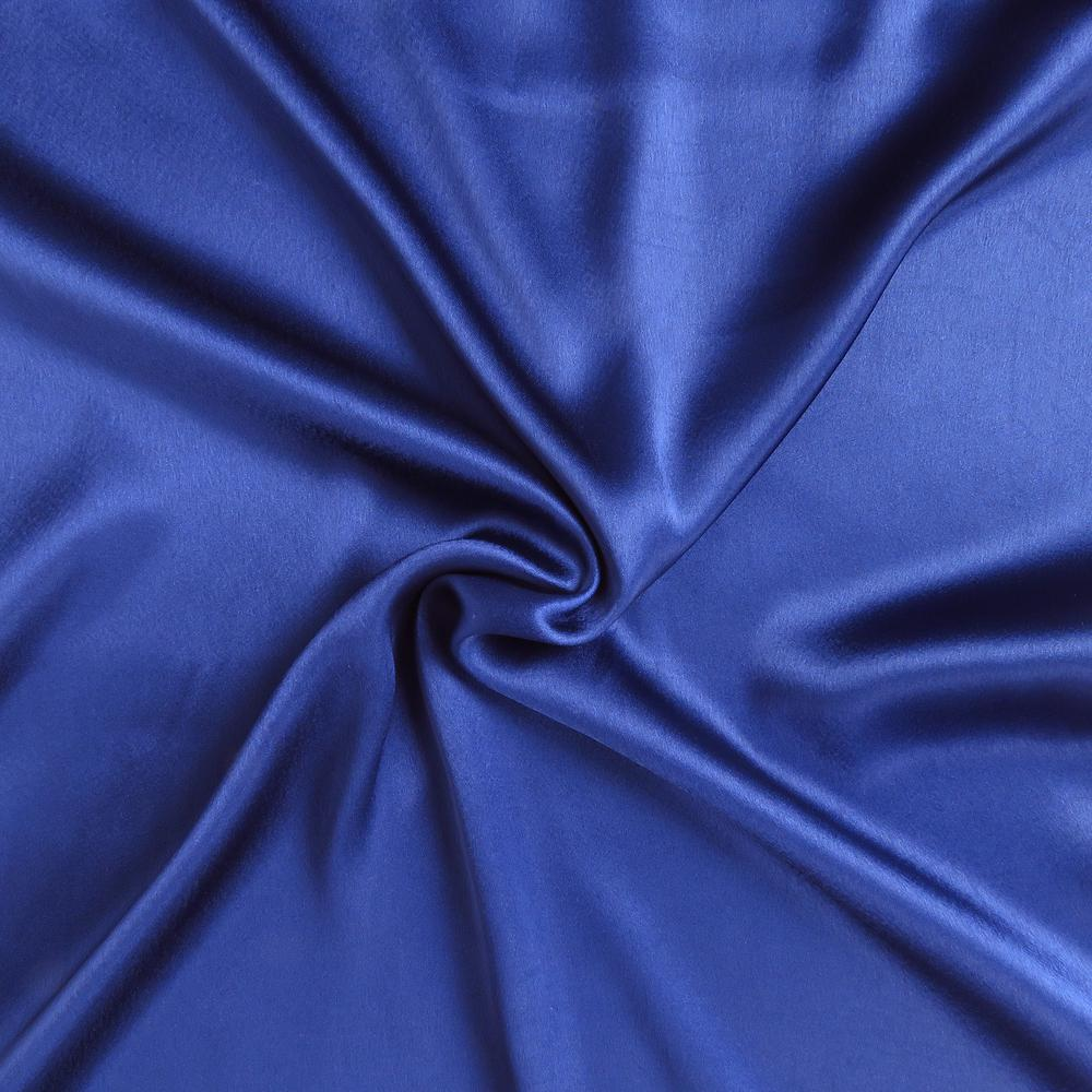 Navy Blue Dreamy Set of 2 Silky Satin Standard Pillowcases - 387871. Picture 6