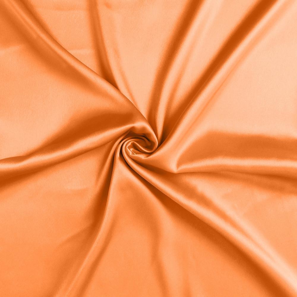 Orange Dreamy Set of 2 Silky Satin Standard Pillowcases - 387872. Picture 6