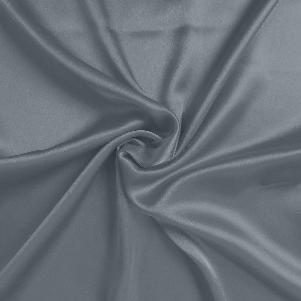 Dark Gray Dreamy Set of 2 Silky Satin Standard Pillowcases - 387880. Picture 6