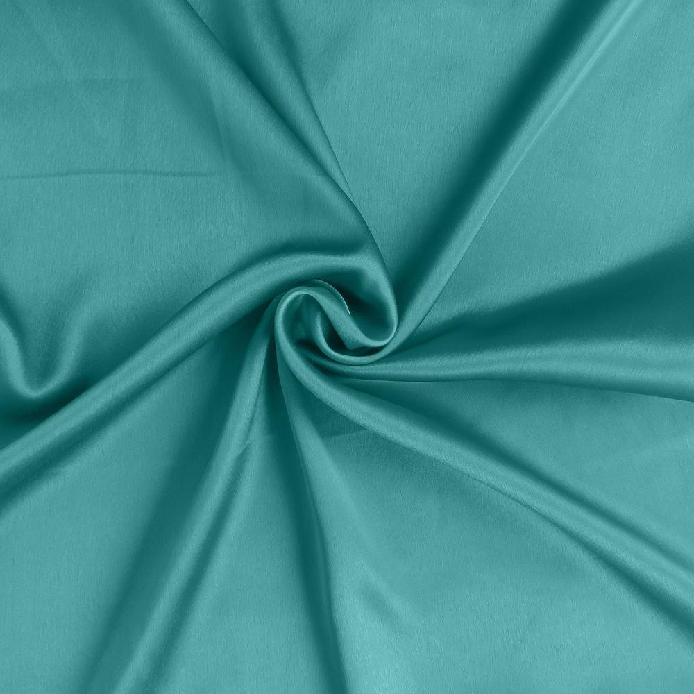 Teal Dreamy Set of 2 Silky Satin Standard Pillowcases - 387881. Picture 6
