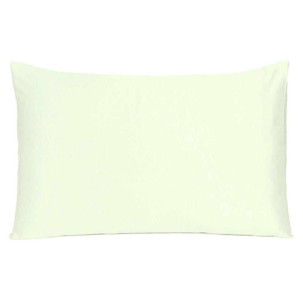 Ivory Dreamy Set of 2 Silky Satin Standard Pillowcases - 387882. Picture 3