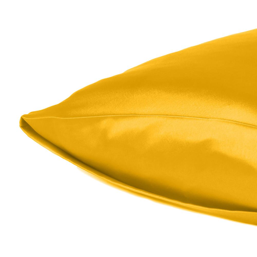 Goldenrod Dreamy Set of 2 Silky Satin Standard Pillowcases - 387885. Picture 5