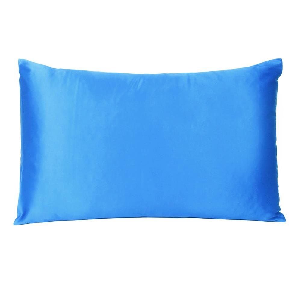 Blue Dreamy Set of 2 Silky Satin Queen Pillowcases - 387887. Picture 3
