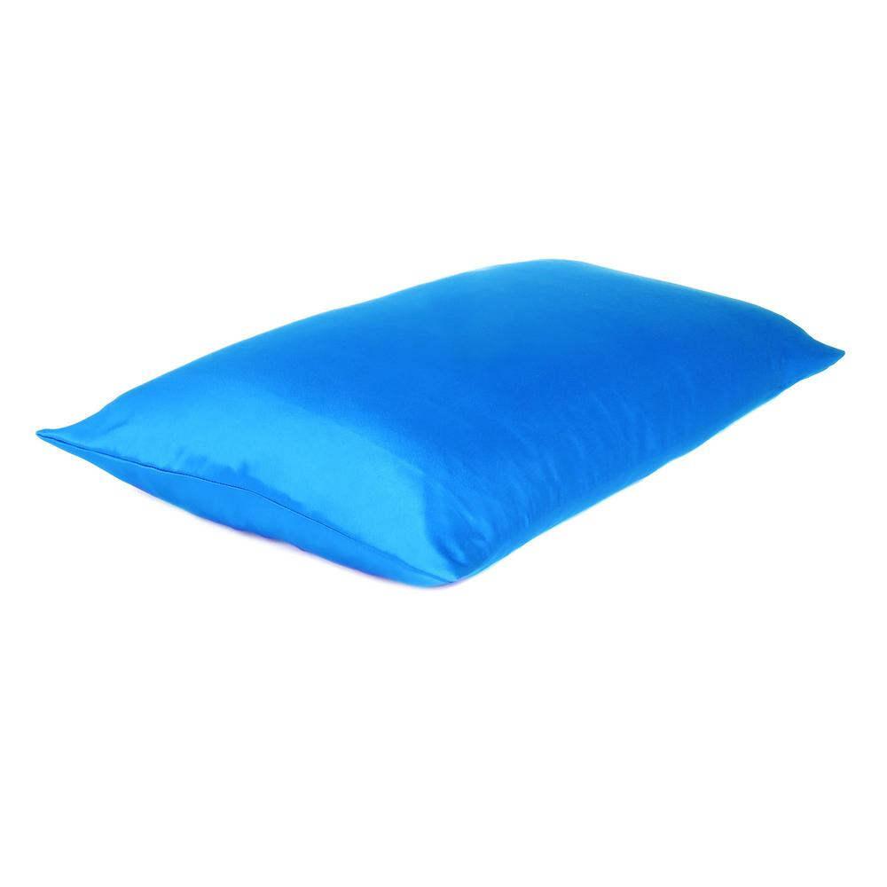 Blue Dreamy Set of 2 Silky Satin Queen Pillowcases - 387887. Picture 4