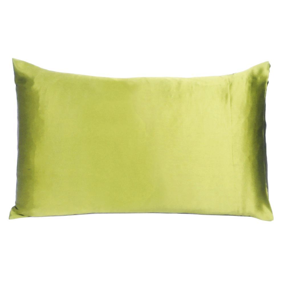 Lemongrass Dreamy Set of 2 Silky Satin Queen Pillowcases - 387897. Picture 3