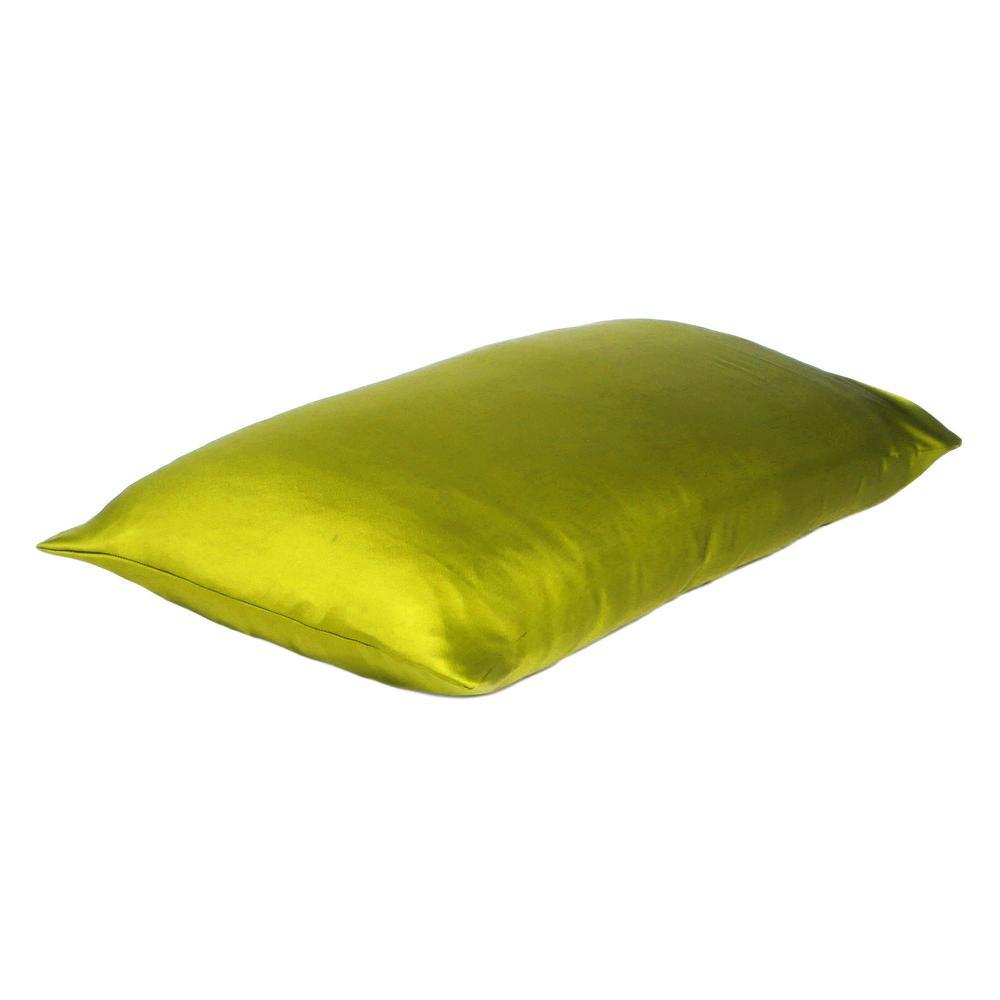 Lemongrass Dreamy Set of 2 Silky Satin Queen Pillowcases - 387897. Picture 4