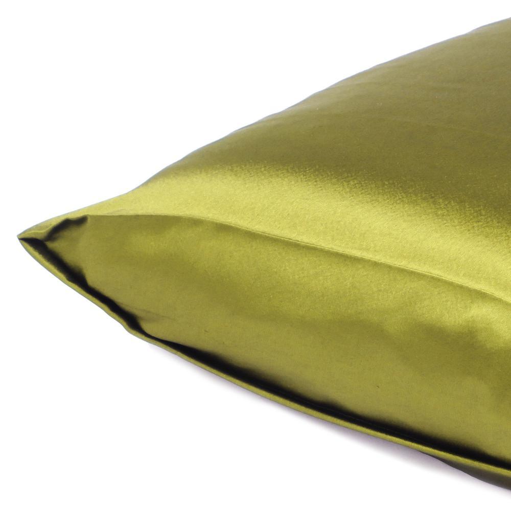 Lemongrass Dreamy Set of 2 Silky Satin Queen Pillowcases - 387897. Picture 5