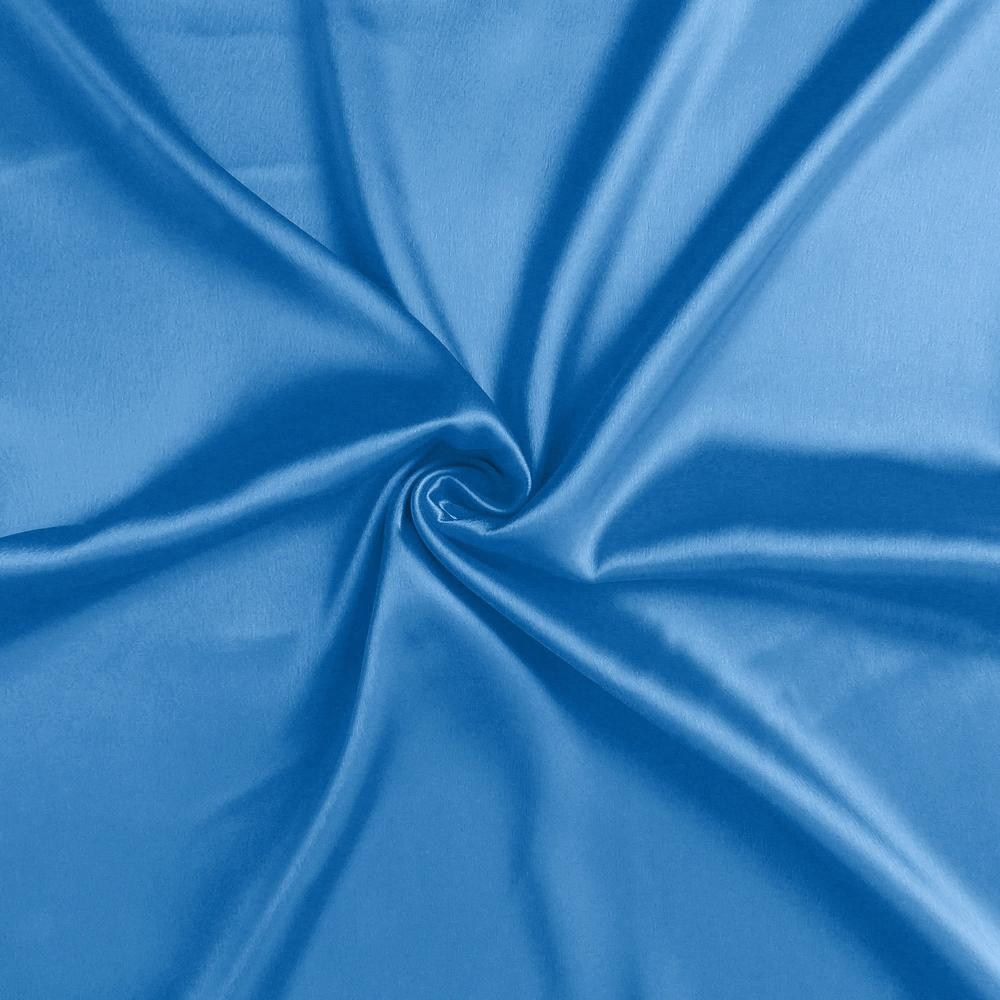Bright Blue Dreamy Set of 2 Silky Satin Queen Pillowcases - 387899. Picture 6
