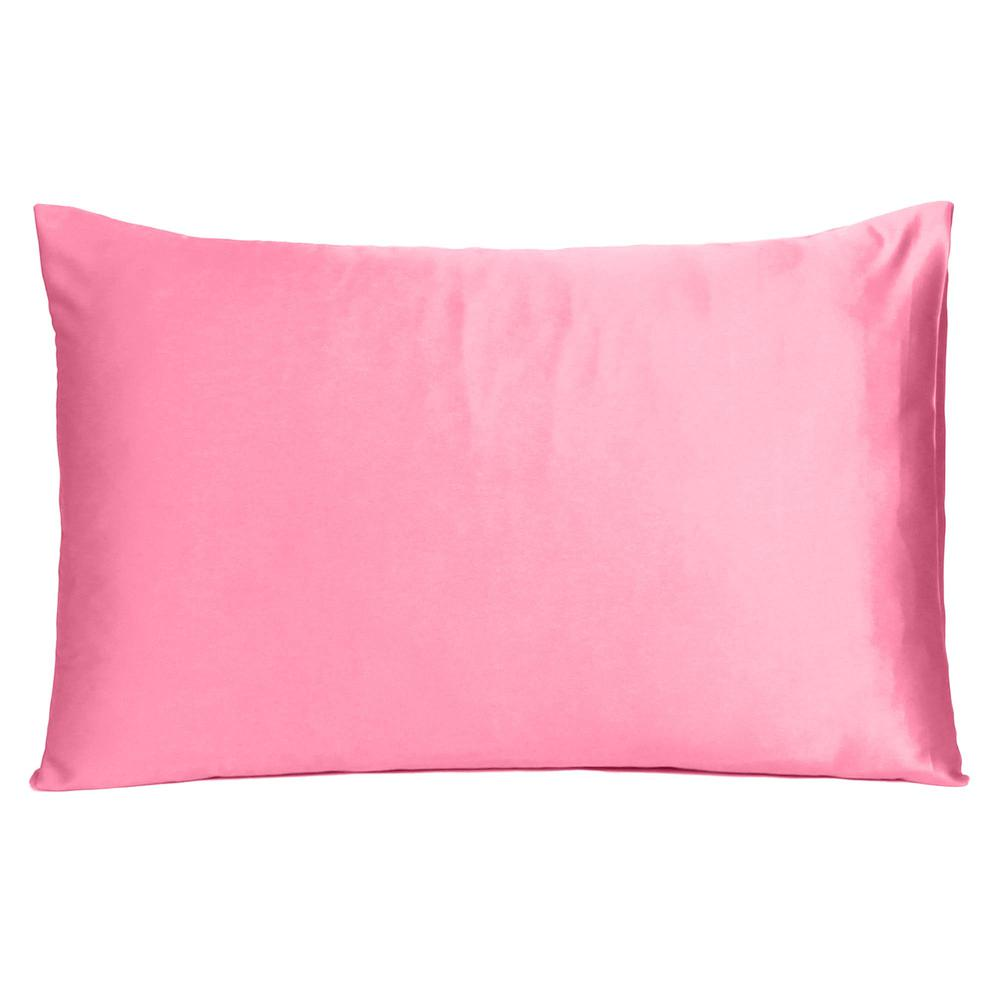 Pink Rose Dreamy Set of 2 Silky Satin Queen Pillowcases - 387903. Picture 3