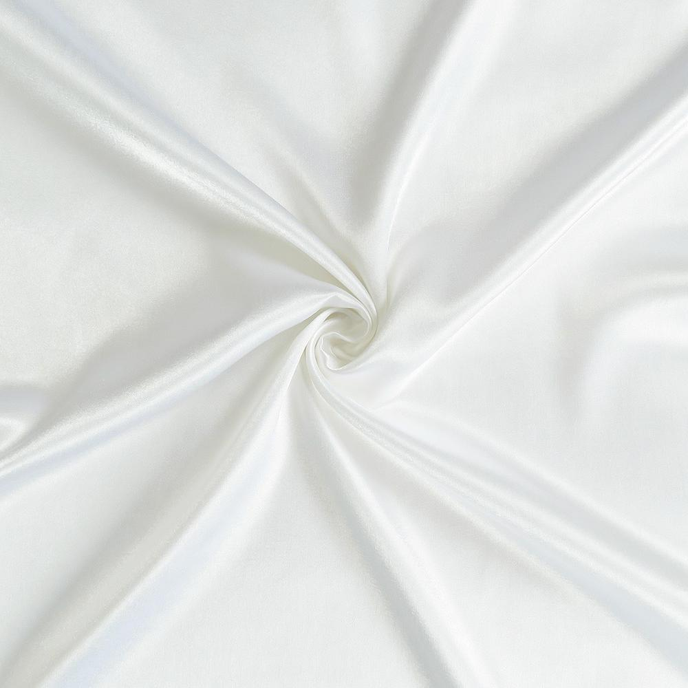 White Dreamy Set of 2 Silky Satin Queen Pillowcases - 387913. Picture 6