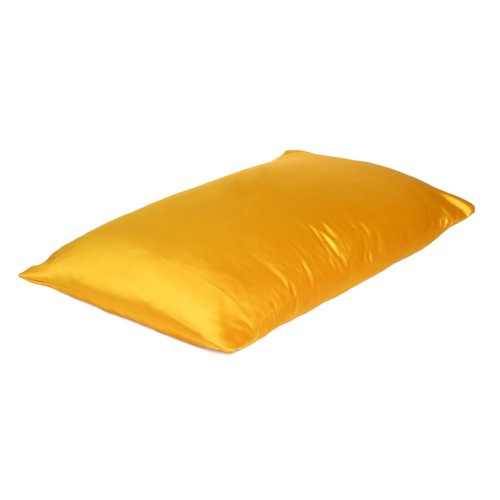 Goldenrod Dreamy Set of 2 Silky Satin Queen Pillowcases - 387914. Picture 4