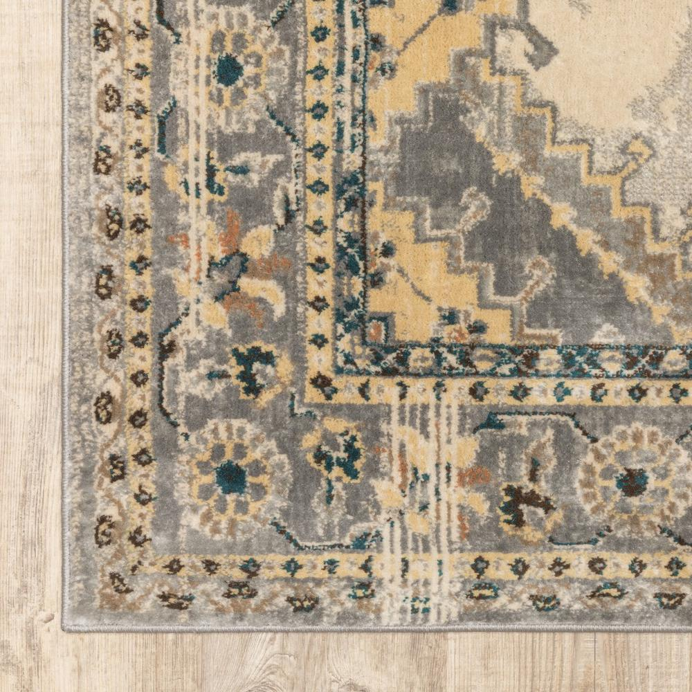 4' x 6' Gray and Beige Aztec Pattern Area Rug - 387925. Picture 2