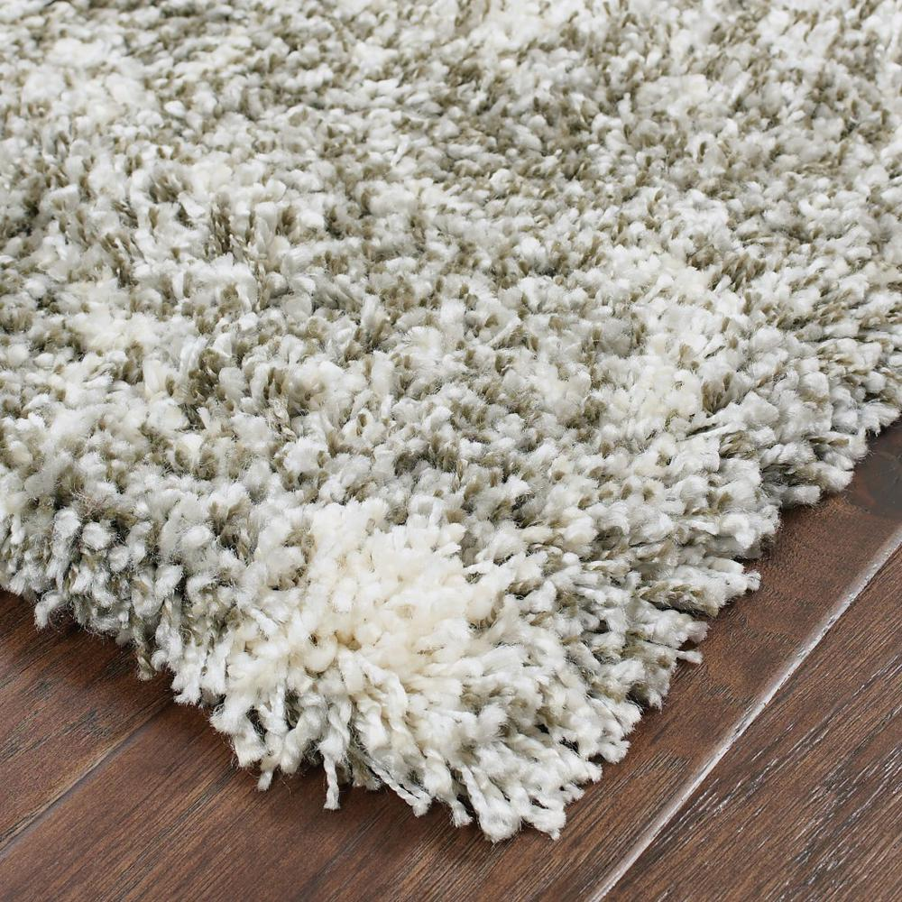 2' x 8' Gray and Ivory Distressed Abstract Runner Rug - 387944. Picture 2