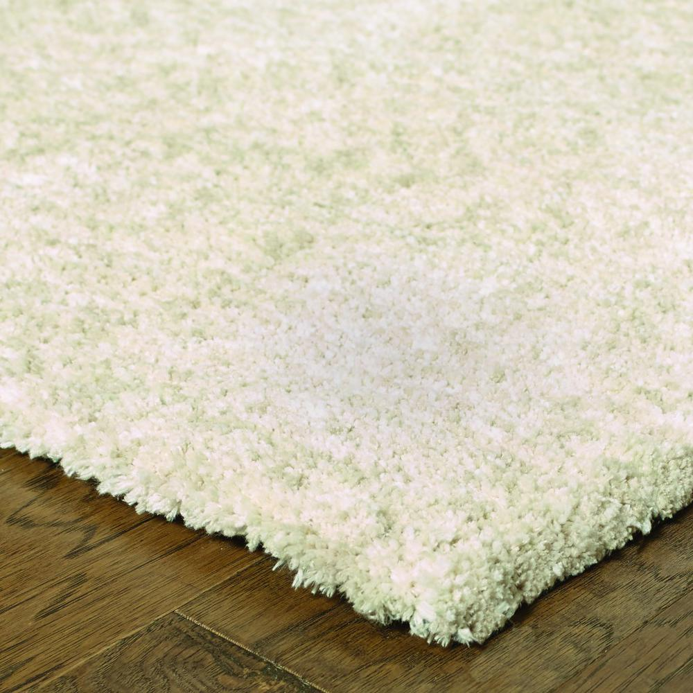 7' x 10' Modern Shag Ivory Indoor Area Rug - 387980. Picture 2