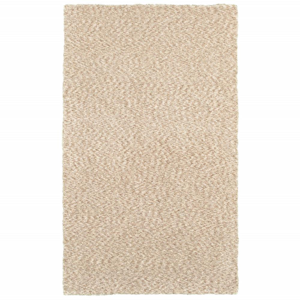 8' x 11' Modern Soft Tan Indoor Area Rug - 387994. Picture 1