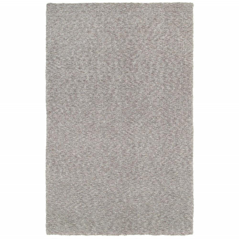 8' x 11' Modern Shaggy Soft Gray Indoor Area Rug - 387996. Picture 1