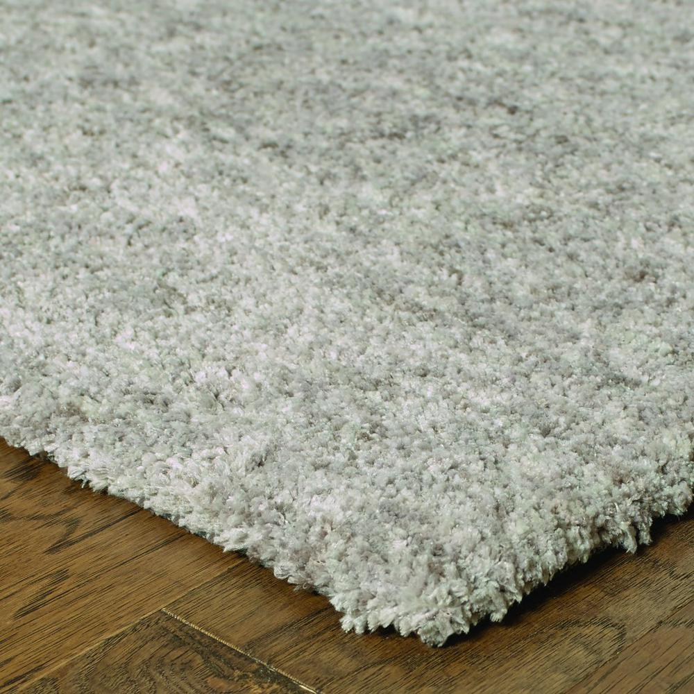8' x 11' Modern Shaggy Soft Gray Indoor Area Rug - 387996. Picture 2