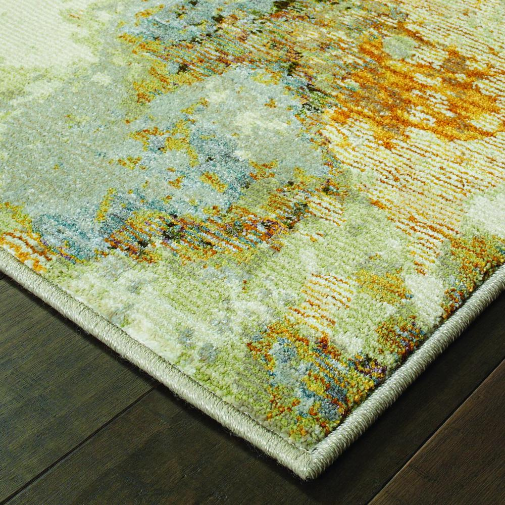 2' x 3' Modern Abstract Gold and Beige Indoor Scatter Rug - 388013. Picture 2