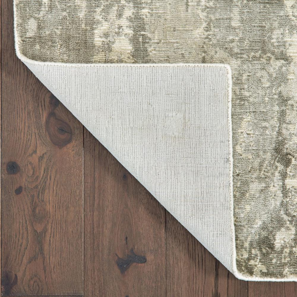 3' x 10' Gray and Ivory Abstract Splash Indoor Runner Rug - 388059. Picture 3