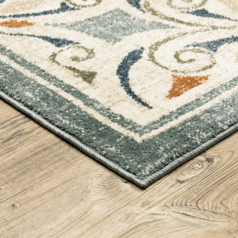 8' x 10' Gray and Beige Medallion Indoor Area Rug - 388063. Picture 2