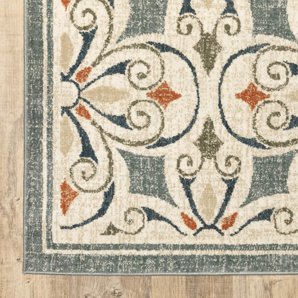 8' x 10' Gray and Beige Medallion Indoor Area Rug - 388063. Picture 3