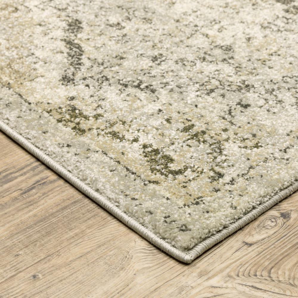 8' x 11' Ivory and Gray Floral Trellis Indoor Area Rug - 388067. Picture 2