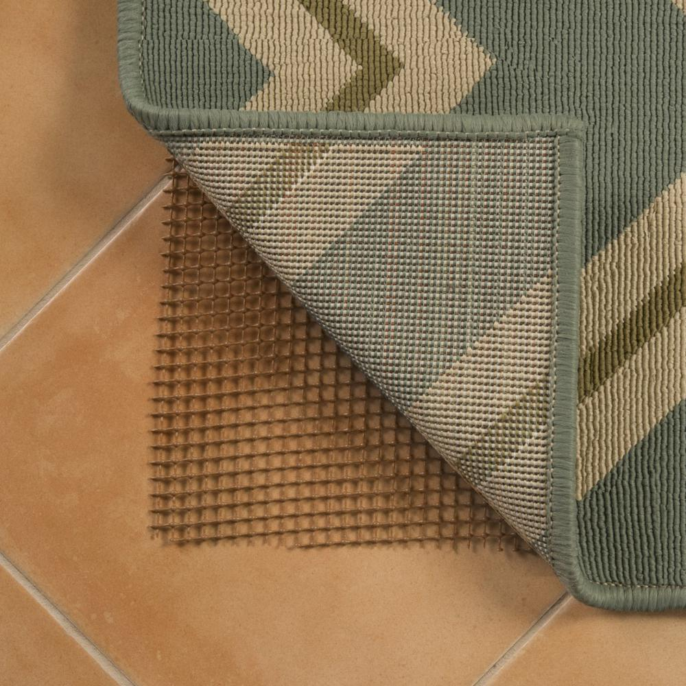 4' x 5' Brown Non Slip Outdoor Rug Pad - 388111. Picture 2