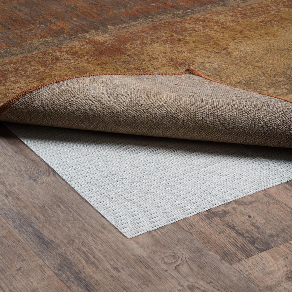 8' Round Standard Beige Non Slip Rug Pad - 388116. Picture 2