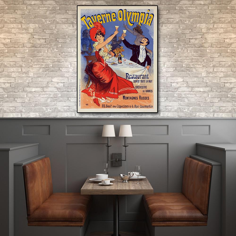 """32"""" x 24"""" Taverne Olympia French Restaraunt Wall Art Print - 388274. Picture 3"""