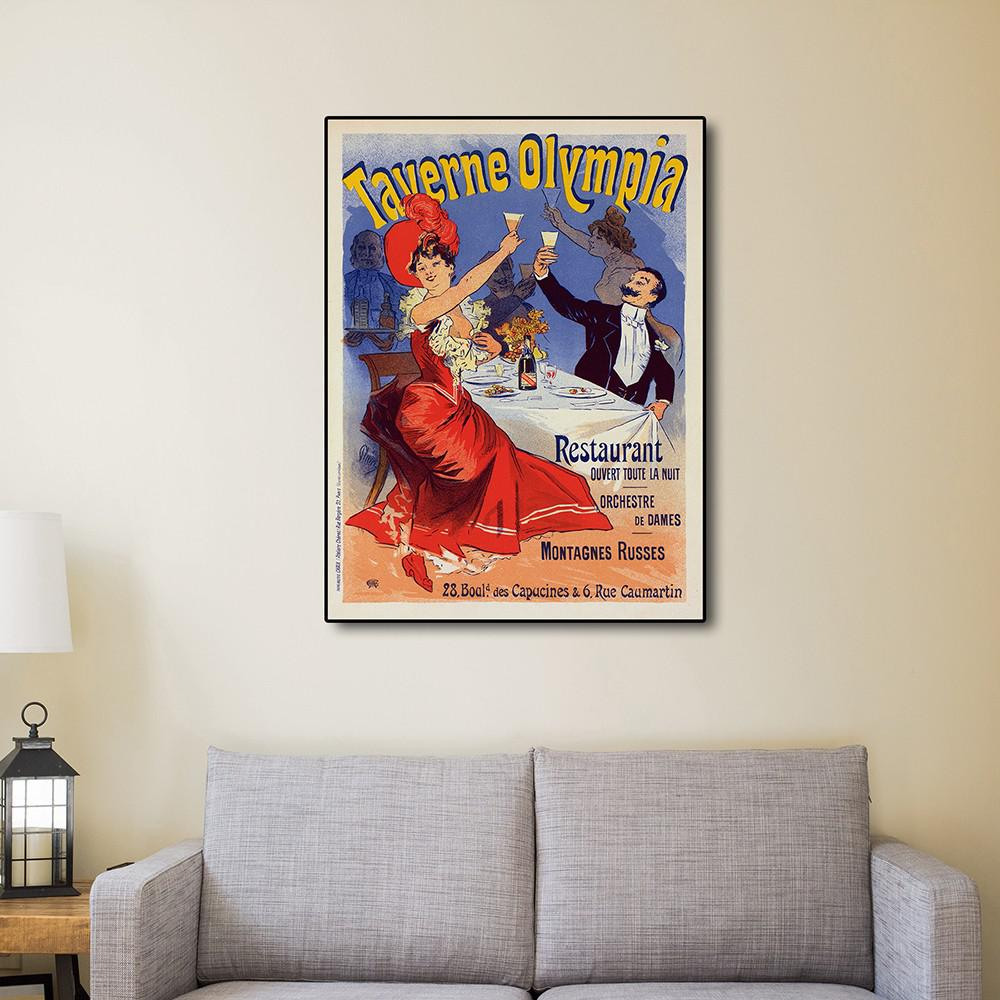 """32"""" x 24"""" Taverne Olympia French Restaraunt Wall Art Print - 388274. Picture 4"""