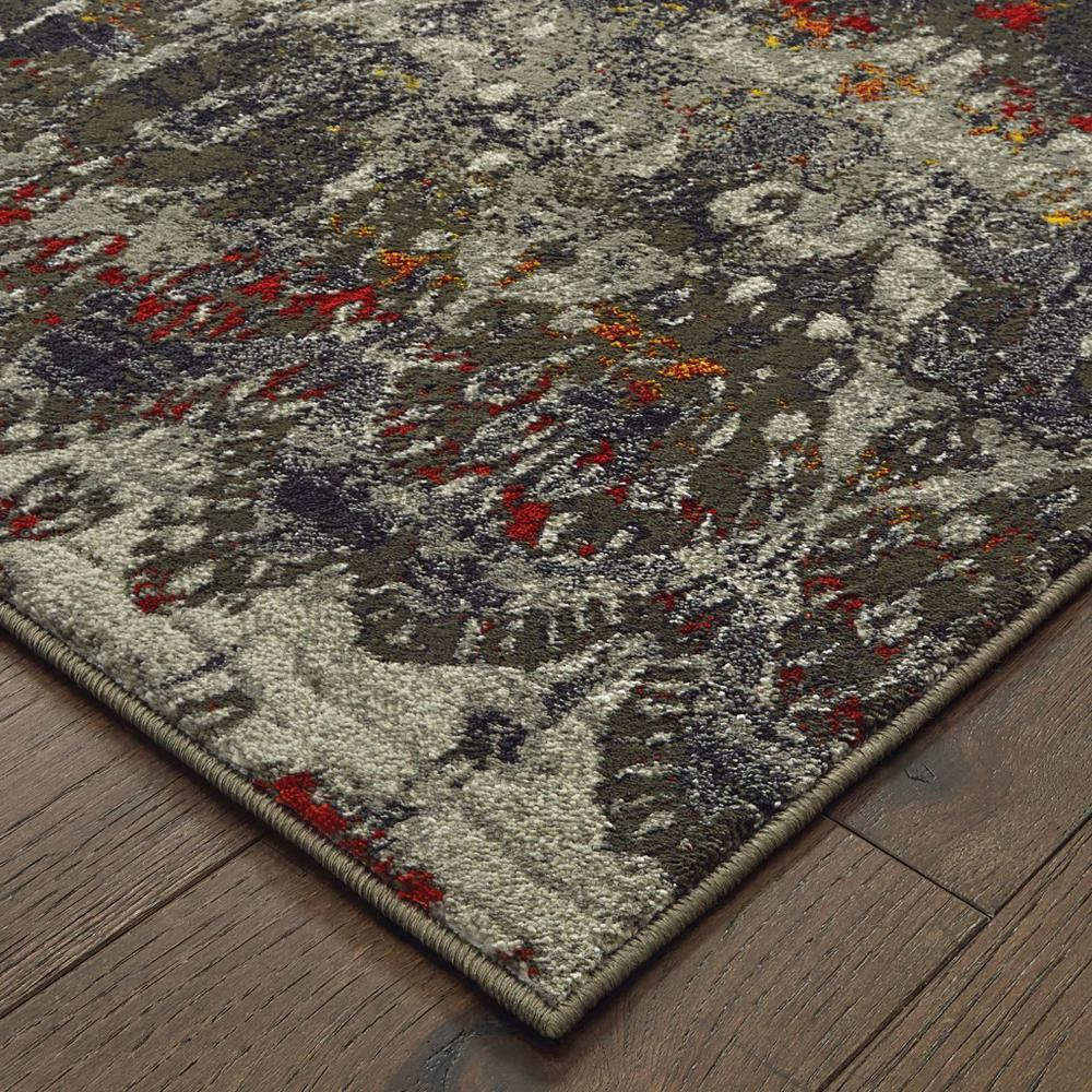 5' x 8' Distressed Grey Blue Machine Woven Indoor Area Rug - 388309. Picture 2