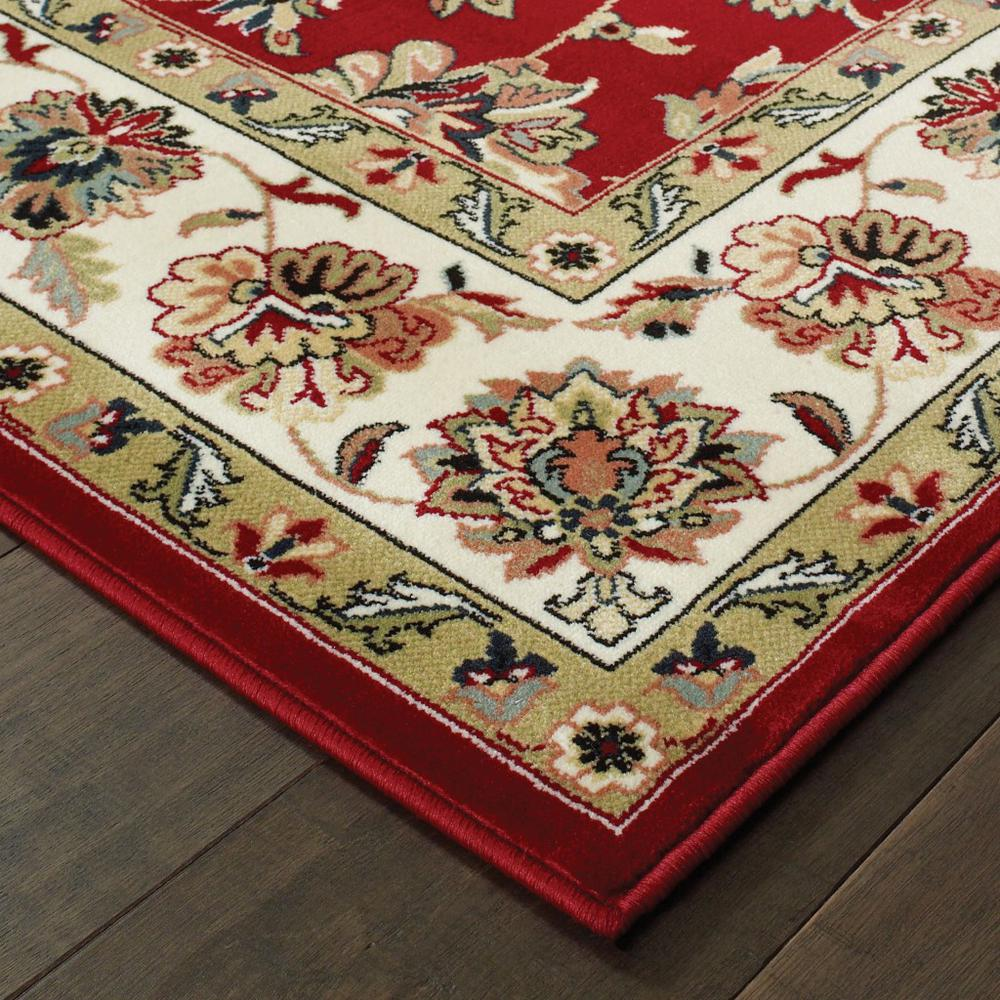 3' x 6' Red Ivory Machine Woven Floral Oriental Indoor Area Rug - 388324. Picture 2