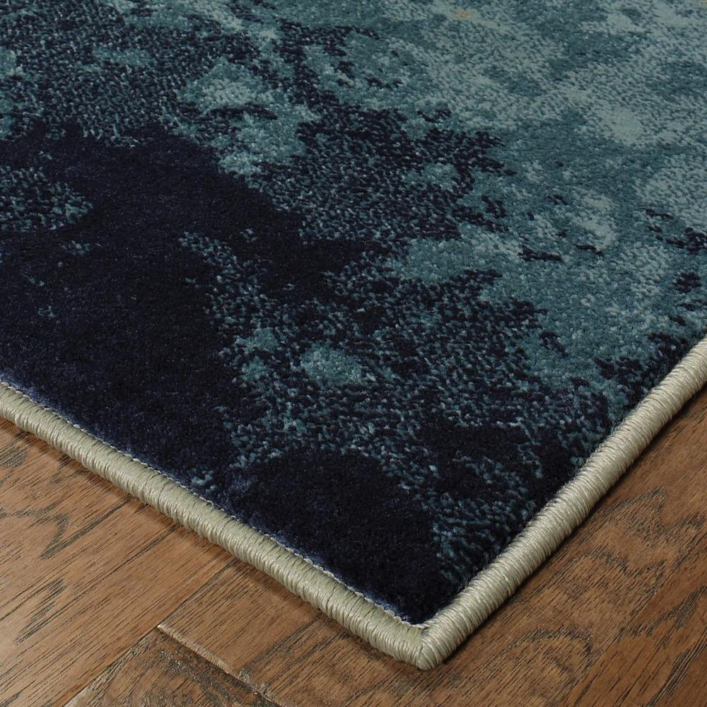 7' x 10' Blue Beige Machine Woven Abstract Skies Indoor Area Rug - 388393. Picture 3