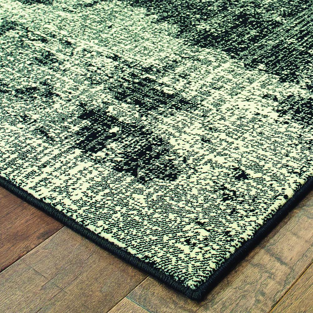 7' x 10' Black Ivory Machine Woven Abstract Indoor Area Rug - 388409. Picture 2