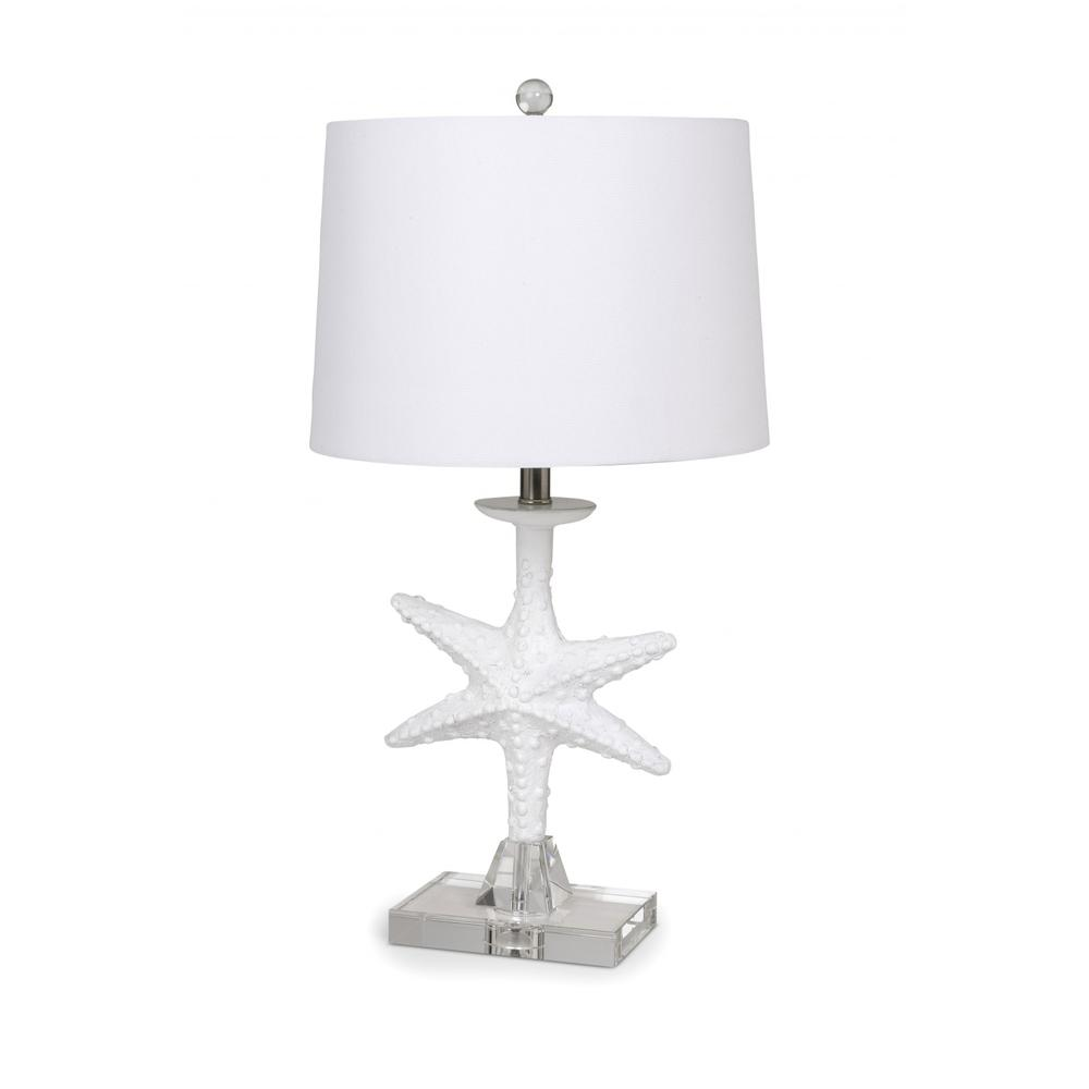 Set of 2 White Coastal Starfsh Table Lamps - 388552. Picture 1