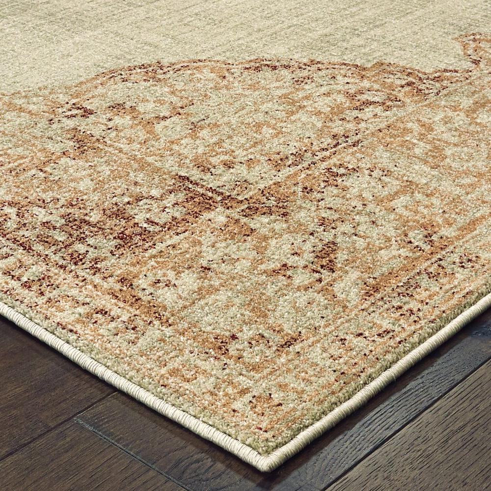 8'x11' Ivory and Pink Medallion Area Rug - 388726. Picture 2